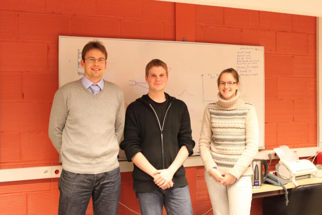 with PHD students at EDAM